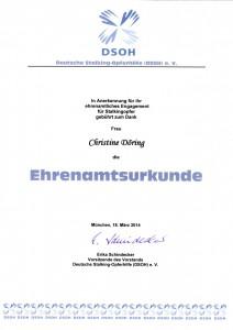 Ehrenamtsurkunde DSOH