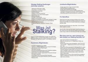 Informationsflyer Stalking&Justiz - Seite 2